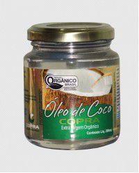 OLEO DE COCO ORGANICO 200ML EXTRA VIRGEM COPRA