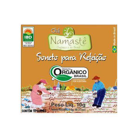 Chá Soneto pós Refeições Orgânico certificado IBD 10 Sachês NAMASTÊ