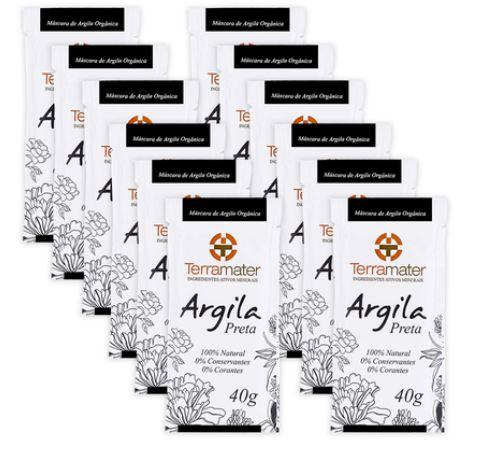 Argila Preta (Detox) 40g TERRAMATER 12 Unidades