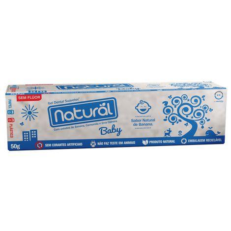 Gel dental natural Baby (creme dental) 50g NATURAL SUAVETEX