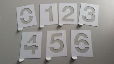 Matrizes de Pintura Numerais em PS.