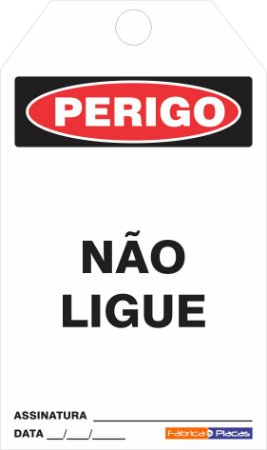 CARTÃO DE TRAVAMENTO - NÃO LIGUE