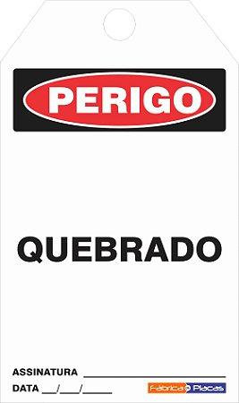 CARTÃO DE TRAVAMENTO - QUEBRADO