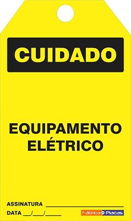 CARTÃO DE TRAVAMENTO - CUIDADO
