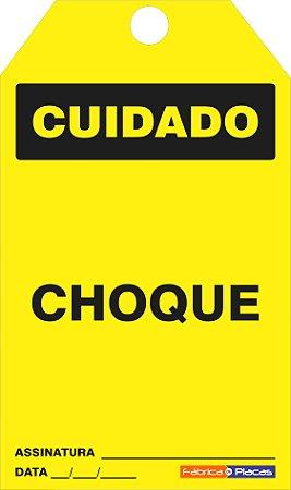 CARTÃO DE TRAVAMENTO - CUIDADO CHOQUE