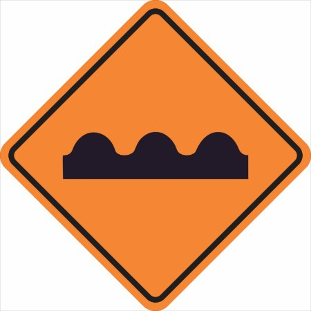 Placas sinalização de Obras 100x100cm - OEP 104