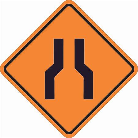 Placas sinalização de Obras100x100cm - OEP 110