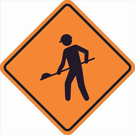 Placas sinalização de Obras 100x100cm - OEP 113