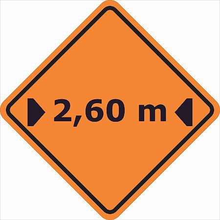 Placas sinalização de Obras 100x100cm - OEP 115