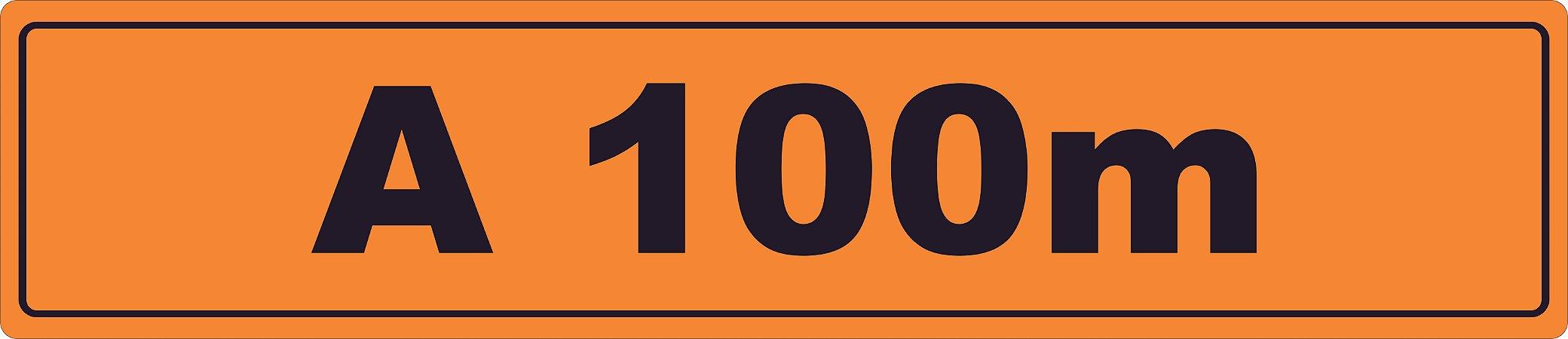 PLACA SINALIZAÇÃO DE OBRAS - 100X23 CM
