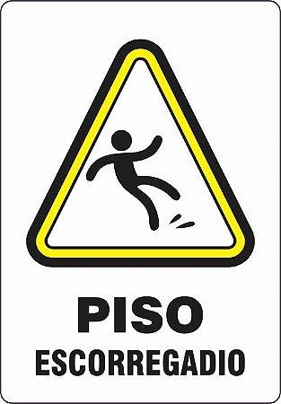 Etiquetas Risco de Perigo auto-colante - Perigoso Piso Escorregadio