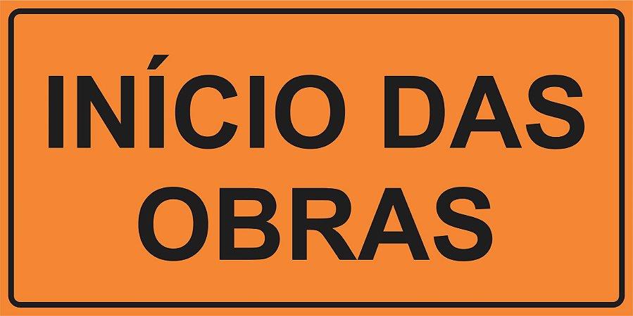 OPE 2102 - Placa de Sinalização de Obras em Rodovias. Padrão DNIT. REFLETIVA