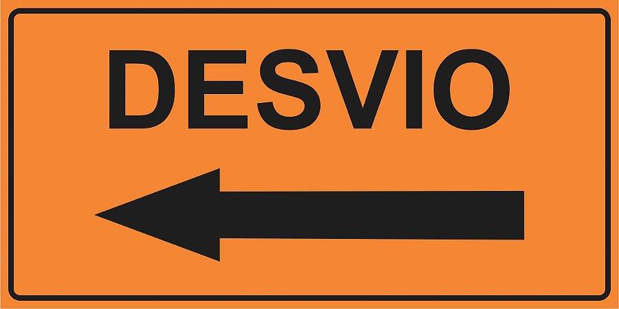 OEP 2106 - Placa de Sinalização de Obras em Rodovias padrão DNIT. REFLETIVA