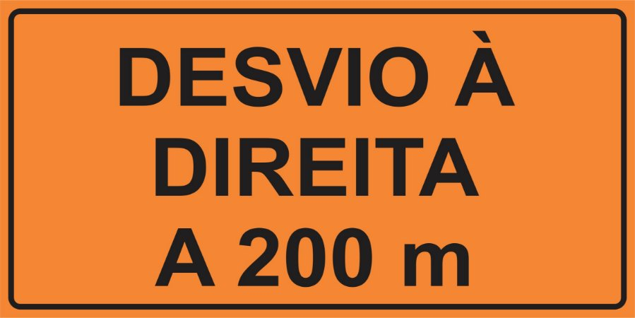 OEP 2108 - Placa de Sinalização de Obras em Rodovias padrão DNIT. REFLETIVA