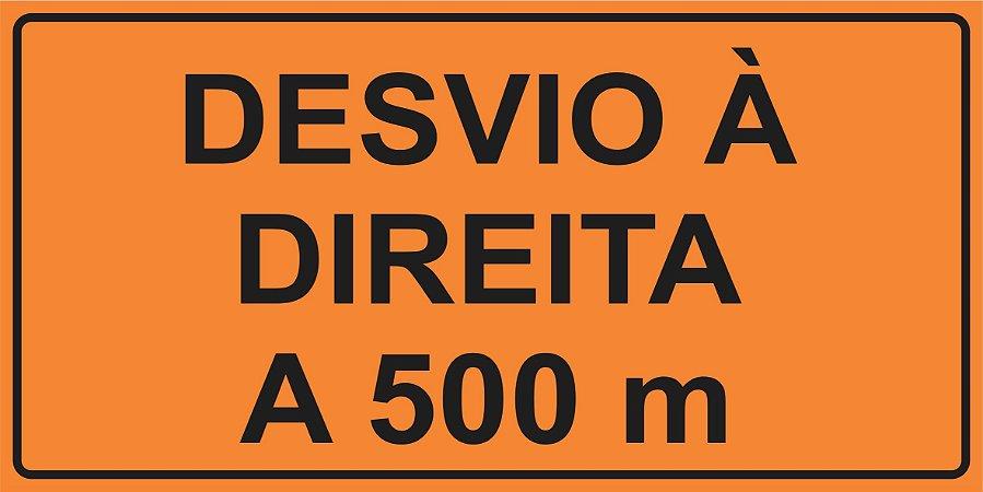 OEP 2111 - Placa de Sinalização de Obras em Rodovias padrão DNIT. REFLETIVA