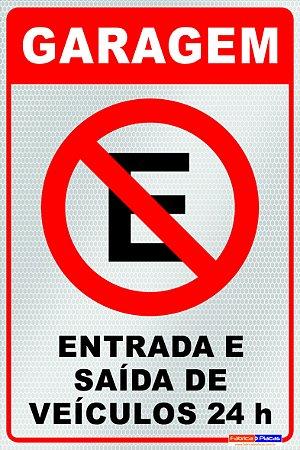 Placa Não Estacione - PES 005