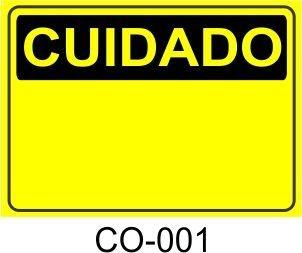 Placa Cuidado - 001
