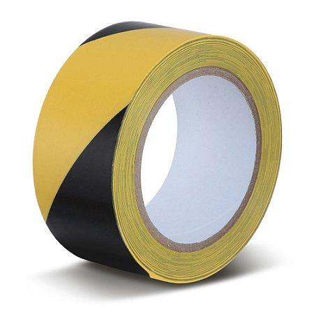 Fita Adesiva Demarcação de Solo Amarela/Preto Zebrada - CÓD. 850I/S 50 mm