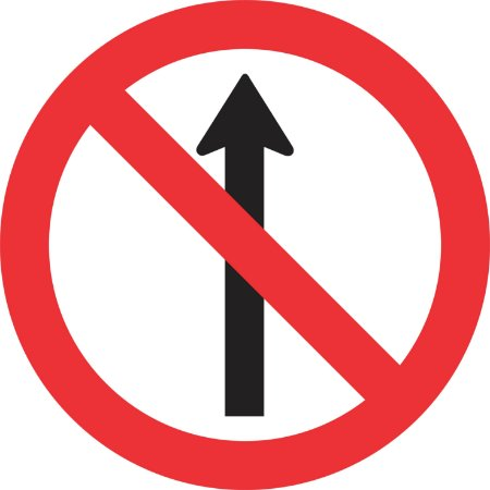 Placa de Regulamentação - R-3 - Sentido Proibido