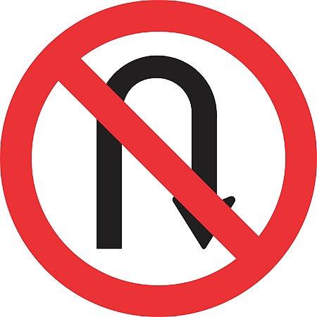 Placa de Regulamentação - R-5b - Proibido Retornar à Direita