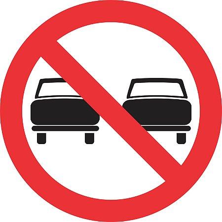 Placa de Regulamentação - R-7 - Proibido Ultrapassar