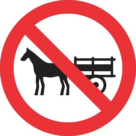 Placa de Regulamentação - R-11 - Proibido Trânsito de Veículos Tração Animal