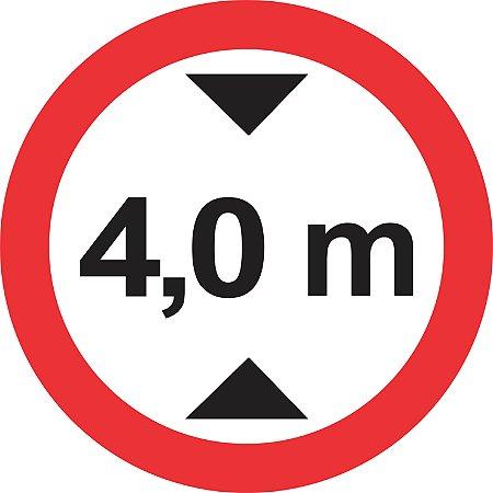 Placa de Regulamentação - R-15 - Altura Máxima Permitida
