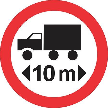 Placa de Regulamentação - R-18 - Comprimento Máximo Permitido