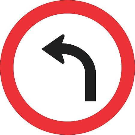 Placa de Regulamentação - R-25a - Vire à Esquerda