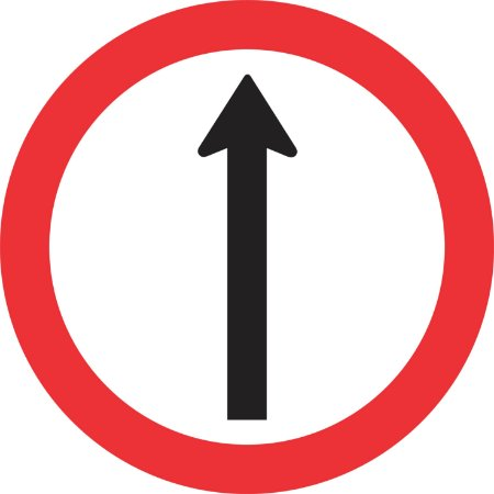 Placa de Regulamentação - R-26 - Siga em Frente