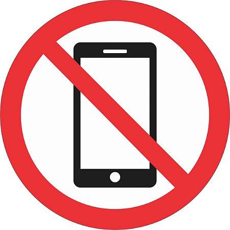 Etiqueta Proibido Uso de Celular