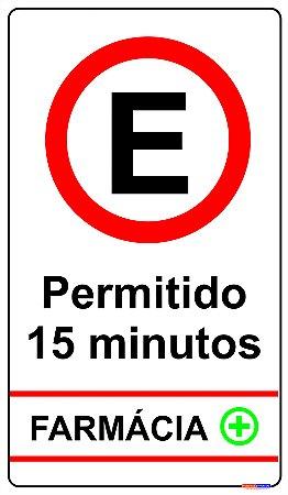 Placa de Estacionamento Permitido