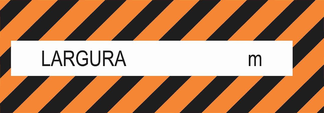 Faixa Refletiva Advertência - Largura