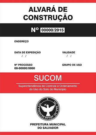 Placa Alvará de Obras e Reformas - 50x100 cm
