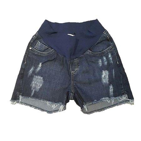 Shorts Jeans Rasgado Gestante 4U2B