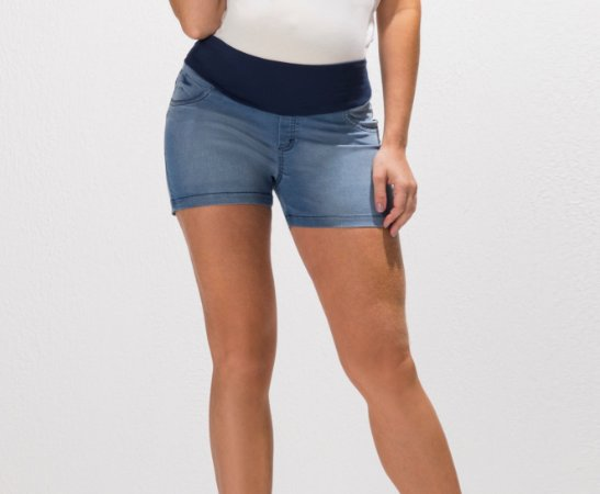 Shorts Jeans Curto Gestante Megadose