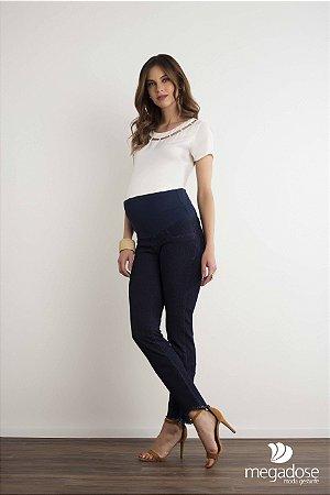 Calça Jeans Grávida Cós Alto Megadose