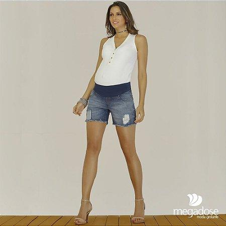 Shorts Jeans Rasgado Megadose