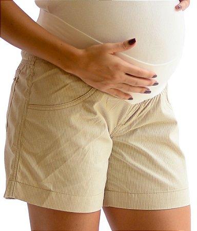 Shorts Listrado Meia Coxa - Duevita