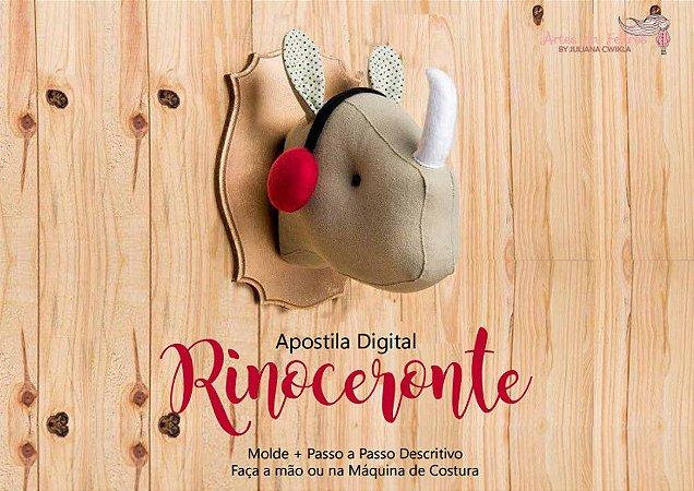 Apostila Digital Cabeça Rinoceronte Artes em Feltros - ENVIO IMEDIATO