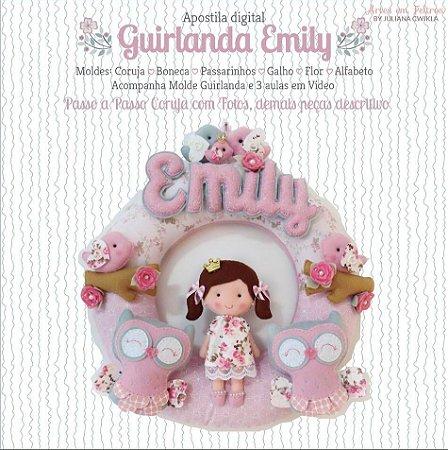 PROMOÇÃO Apostila DIGITAL Guirlanda Emily - Artes em Feltros