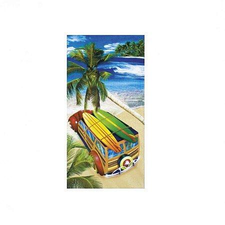 deb8b9e80 Toalha De Praia Velour Estampada Surf Trip - Sacaria Sena - Cama ...