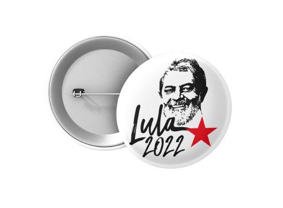 Botton Lula 2022 Rosto
