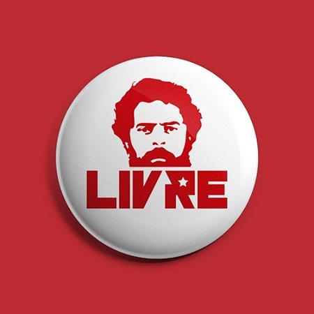 Botton Lula Livre Branco