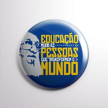 BOTTON PAULO FREIRE azul