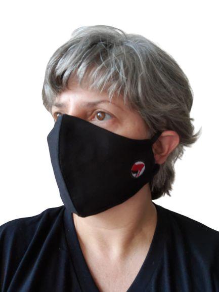 Máscara Tecido Antifascismo Bordado