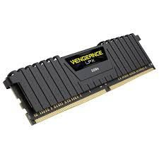MEM DDR4 8GB 2666 CORSAIR VENGEANCE LPX PRETA