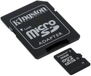 MEMORY SD MICRO 16GB SANDISK C4