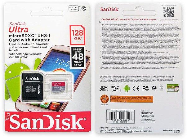 MEMORY SD MICRO128GB SANDISK ULTRA C10
