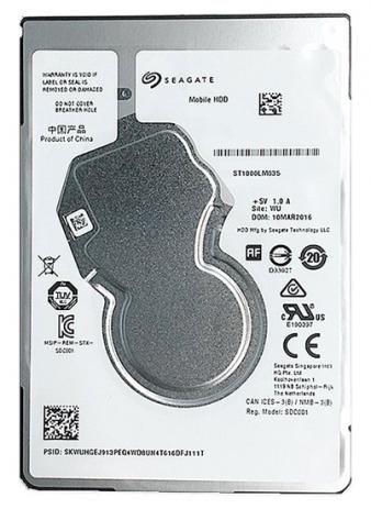 HD para notebook  SATA 1TB SEAGATE 5400 7MM